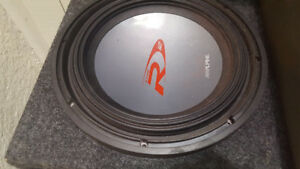 "12"" Alpine Type R Subwoofer in box"