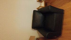 Pleather couch and chair