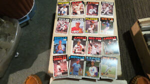 1986 O-Pee-Chee MLB cards(22)(Jackson,Brett,Rice,etc...)