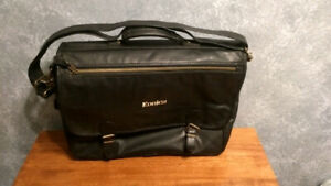 Konica leather laptop bag