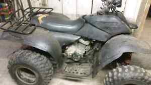 Polaris trail boss 250 2 stroke motor both clutches and harness