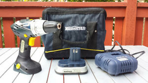 Mastercraft 18v Drill, Li-ion Battery, Charger & Case