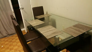 Moving sale- Dining Set with 4 chairs