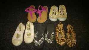 Girls size 7 Toddler shoes and sandals