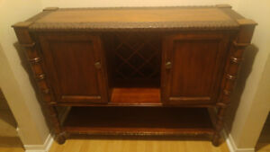 Dining room buffet cabinets brown wood
