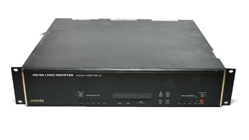 Evertz HD9725LG +2PS +TP HD/SD Logo Inserter