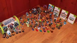 Skylanders Xbox 360 (4 jeux) + 70 figurines + étui de rangement