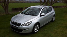 FEBRUARY 2015 PEUGEOT 308 1.6 HDi DIESEL ACTIVE. ONLY 8,800 MILES. 1 OWNER.