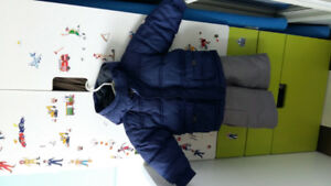 Gap down jacket (12-18M); Please Mum snow pants (18M)
