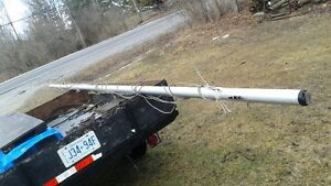 20 foot aluminum mast and boom