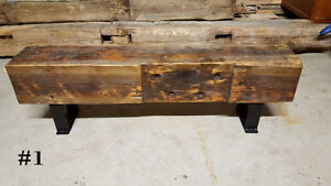 Reclaimed Barn Beam & Hardwood Benches!