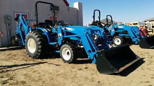New 33HP 4wd LS tractor with loader & Backhoe