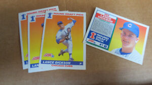 Lance Dickson MLB rookie cards(4)