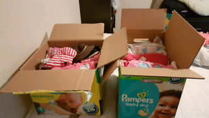 2 full boxes of 6-12 month girl clothes
