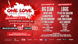ONE LOVE MUSIC FESTIVAL CALGARY 2 SATURDAY GEN ADMISSION