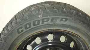 "4 - 195/65R-15 Snow Tires on 15"" steel rims - $150 London Ontario image 3"