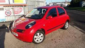 2004 04 NISSAN MICRA 1.5dCi SX 5 DOOR IN RED.JUST 57K,F/S/H.2 KEYS.£30 ROAD TAX.