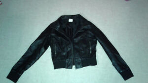 Faux Black Leather Jacket for Pre-Teen Girl