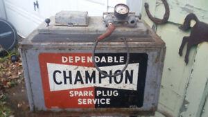 Vintage Antique Classic Gas Pump Champion Spark Plug Tester