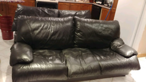 Black Leather Couches