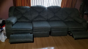Couch with recliners and massager, sectional
