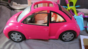 Barbie VW with Moose,Sega and Hasboro toys