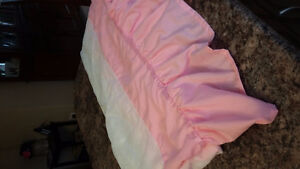 Twin bed Pink bed skirt