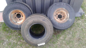3 FATBOY TIRES AND RIMS FOR SALE