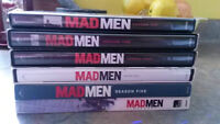 Seasons 1-6 of MAD MEN on dvd - perfect condition