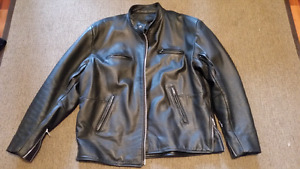Bristol Leather Motorcycle jacket. Cruiser style
