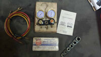 Automotive A/C charge and test kit