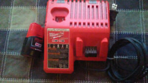 Milwaukee charger and 12v battery