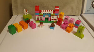Lego Duplo All-In-One-Pink-Box-Of-Fun - 65 Pieces - Complete