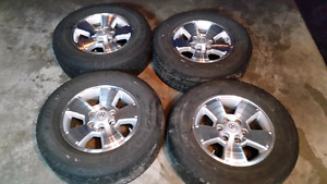 Toyota Tacoma TRD sport wheels and tires. With TPMS