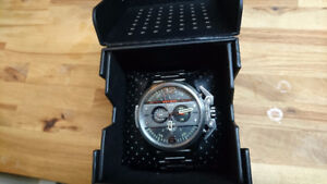 DIESEL watch men gun metal