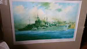 HMS Kelly painting by Robert Taylor