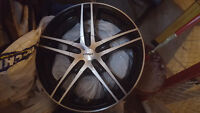 set of 4 fast reverb 17 inch rims + 2 tires 5×114.3