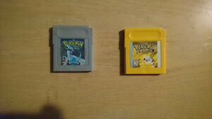 Pokemon yellow and silver 40$ each