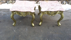 Real marble end tables