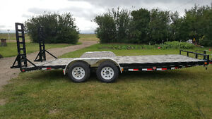 PJ Machinery trailer with fold up ramps,  9990lb capacity