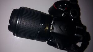 Nikon D3200 with 2 lenses