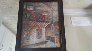 Two wall art, with nice wood frame