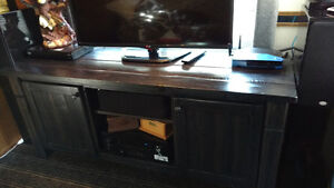 Solid wood TV stand 64 in long 20 wide