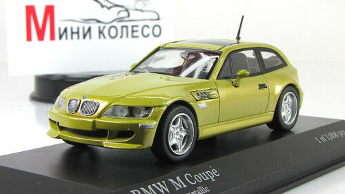 Scale Car 1:43, BMW M Coupe 1999 Yellow Metallic