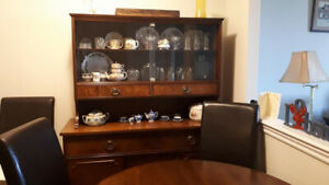 Antique Walnut Buffet & Hutch $140 OBO