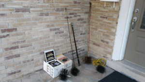 Chimney brushes / sweeps and rods