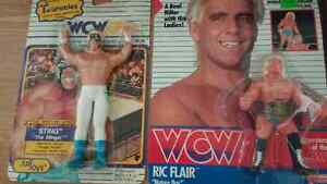 Wrestling ,WCW Galoob Ric Flair, Lex Luger and Sting Peterborough Peterborough Area image 2
