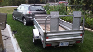 7,2  INCH 4.2  GALVANIZED UTILITY TRAILER, HOLD 1500 LB