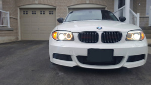2012 BMW 135i COPUE ALPINE WHITE/DAKOTA RED WITH MOD