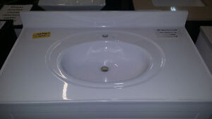 VANITY TOPS CULTURED MARBLE WHITE 31""
